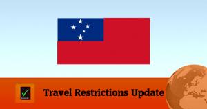 Samoa Covid19 Travel Restrictions