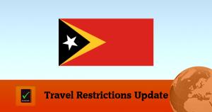 Travel Restrictions Timor Leste