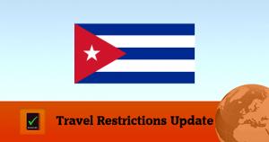 Cuba Covid19 Travel restrictions